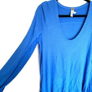 WE THE FREE Blue Sweater Thermal Pullover